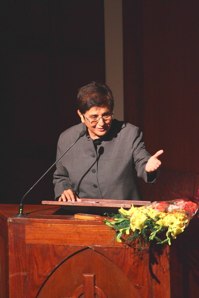 Kiran Bedi addressing WSMUN 2012