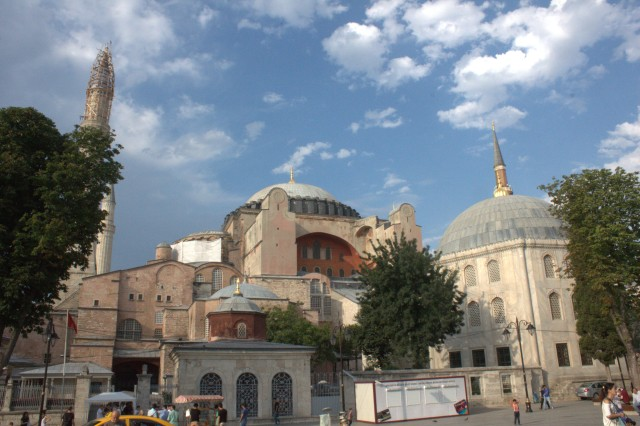 Aya Sofya, Aga Sofya, Hagia Sophia... the gorgeous Byzantine work of art that was a Greek Orthodox church, built under Justinian and Theodora, and then a mosque.
