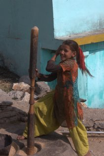Girl in Gaird Village